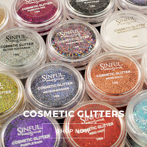 Cosmetic glitter recommended for use in nail art.
