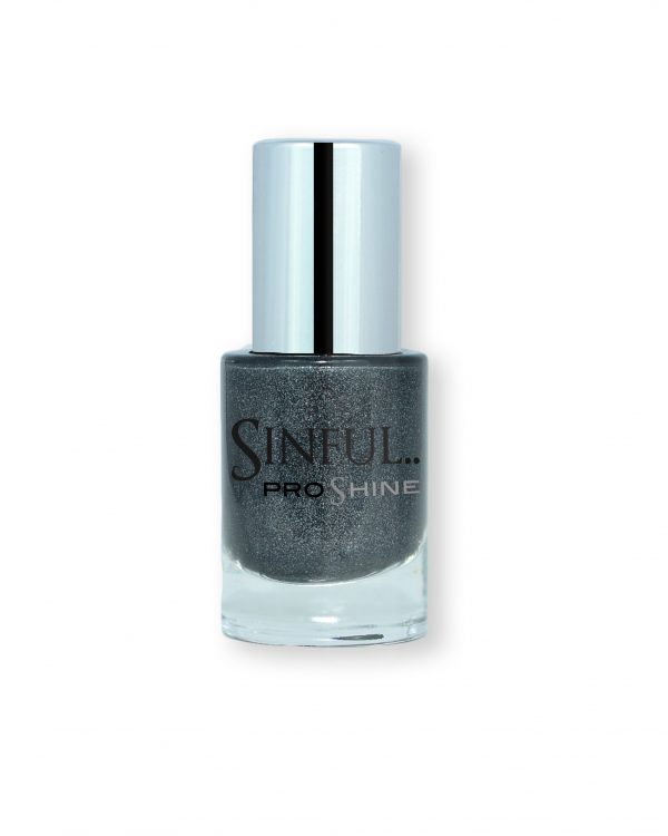 Sinful PROshine is a revolution into top spec imitation gel-like formula, easy application, full coverage and a sleek finish. Spoil yourself with the choice of 42 shades, expertly formulated with the finest grade of pigments. Black Magic: Charcoal black with fine crystal pearls