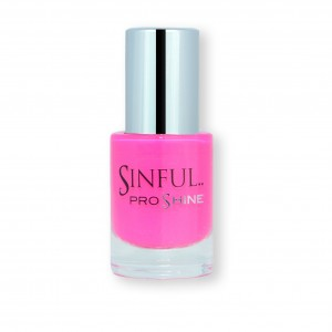 Sinful PROshine is a revolution into top spec imitation gel-like formula, easy application, full coverage and a sleek finish. Spoil yourself with the choice of 42 shades, expertly formulated with the finest grade of pigments. Bombshell: Shocking pink with a creme finish