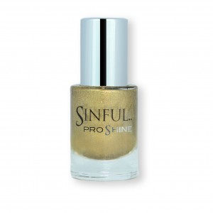 Sinful PROshine is a revolution into top spec imitation gel-like formula, easy application, full coverage and a sleek finish. Spoil yourself with the choice of 42 shades, expertly formulated with the finest grade of pigments. Caviar: Luxurious, dazzling gold