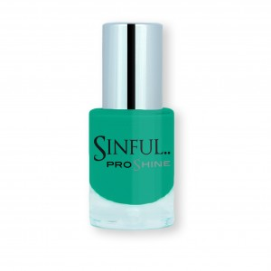 Sinful PROshine is a revolution into top spec imitation gel-like formula, easy application, full coverage and a sleek finish. Spoil yourself with the choice of 42 shades, expertly formulated with the finest grade of pigments. Date Night: Vibrant emerald, with a rich creme finish
