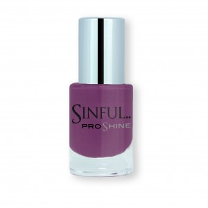 Sinful PROshine is a revolution into top spec imitation gel-like formula, easy application, full coverage and a sleek finish. Spoil yourself with the choice of 42 shades, expertly formulated with the finest grade of pigments. Foul Play: Vibrant berry with a creme finish