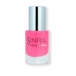 Sinful PROshine is a revolution into top spec imitation gel-like formula, easy application, full coverage and a sleek finish. Spoil yourself with the choice of 42 shades, expertly formulated with the finest grade of pigments. Heartbreak: Strawberry pink with a creme finish