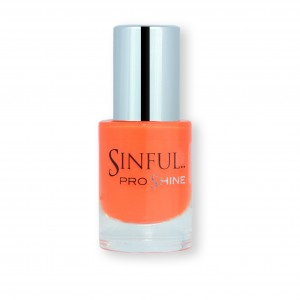 Sinful PROshine is a revolution into top spec imitation gel-like formula, easy application, full coverage and a sleek finish. Spoil yourself with the choice of 42 shades, expertly formulated with the finest grade of pigments. Luminosity: Vibrant satsuma orange, creme finish