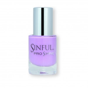 Sinful PROshine is a revolution into top spec imitation gel-like formula, easy application, full coverage and a sleek finish. Spoil yourself with the choice of 42 shades, expertly formulated with the finest grade of pigments. Mademoiselle: Rich lilac with a creme finish