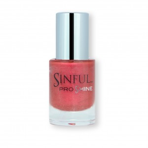 Sinful PROshine is a revolution into top spec imitation gel-like formula, easy application, full coverage and a sleek finish. Spoil yourself with the choice of 42 shades, expertly formulated with the finest grade of pigments. Ruthless: Ruby red with a gentle pearlescent finish