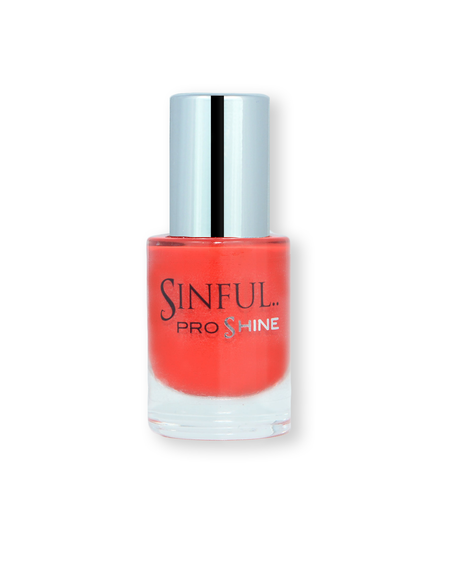 Sinful PROshine is a revolution into top spec imitation gel-like formula, easy application, full coverage and a sleek finish. Spoil yourself with the choice of 42 shades, expertly formulated with the finest grade of pigments. Straight to Bed: Bright scarlet red with a creme finish
