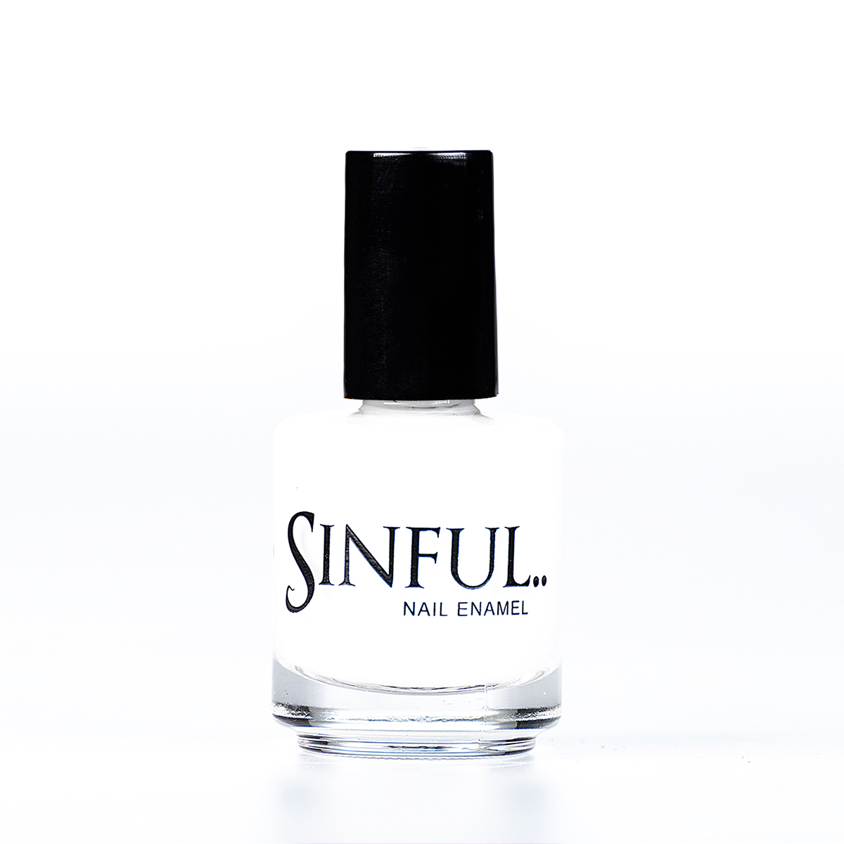 Confession Bright solid white - recommended for French Manicure. Sinful always recommends applying two coats of polish to give a solid colour, then applying top coat to extend the wear-time of the polish. 15ml