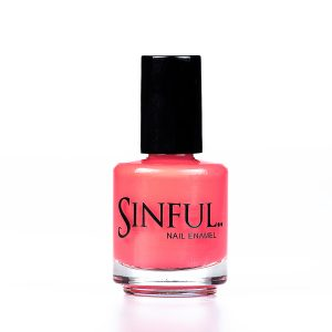 Fettish - Hot & sexy coral orange Sinful always recommends applying two coats of polish to give a solid colour, then applying top coat to extend the wear-time of the polish. 15ml