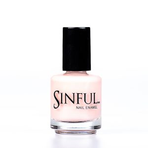 Nude A pale flesh shade - perfect for any skin tone and any occasion. Sinful always recommends applying two coats of polish to give a solid colour, then applying top coat to extend the wear-time of the polish. 15ml