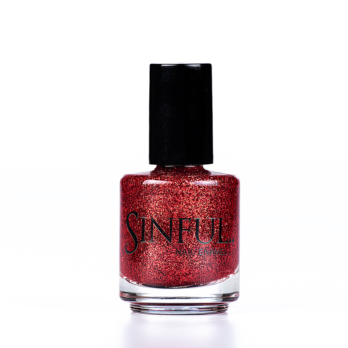 Romp, a Red hot glitter Can be applied over a red undercoat to give a quick, dazzling effect. For a full nail super glitter effect, apply 2-3 layers with a top coat. 15ml