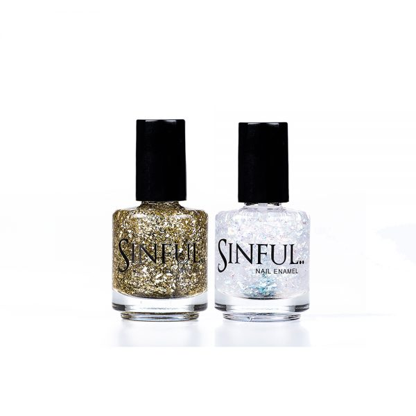 Chunky leaf Glitter Duo by Sinful Nails UK AW17 Duo's // Perfect for Christmas! 15ml Saving of £1.00